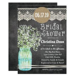 Mason Jar Chalkboard Bridal Shower Invitation starting at 2.61