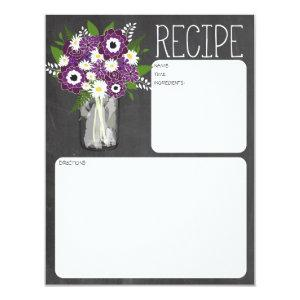 Mason Jar Flowers Recipe Card starting at 2.26