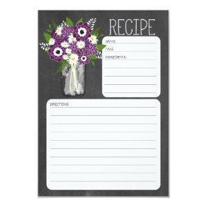 Mason Jar Flowers Recipe Card starting at 2.16