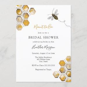 Meant to Bee Bridal Shower Invitation starting at 2.60