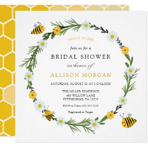 Meant to Bee Bridal  Shower Invitation starting at 2.75