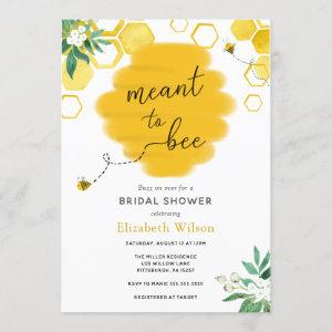 Meant to Bee Bridal Shower Invitation starting at 2.55