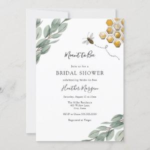 Meant to Bee Eucalyptus Bridal Shower Invitation starting at 2.60
