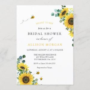 Meant to Bee Sunflower Bridal Shower Invitation starting at 2.85