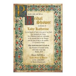 Medieval Manuscript Bridal Shower Invitation Card starting at 2.82
