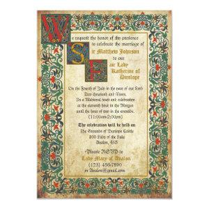 Medieval Manuscript Wedding Invitation Card starting at 2.82