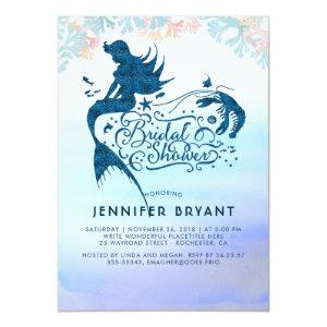 Mermaid Bridal Shower Under The Sea of Love Invitation starting at 2.35