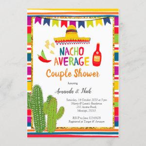Mexican Colourful Nacho Average Couple Shower Invitation starting at 2.55