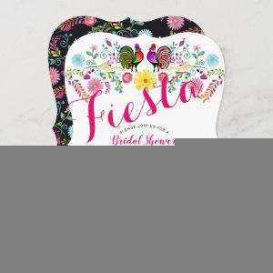 Mexican Fiesta Bridal Shower Roosters Folk Flowers Invitation starting at 2.76