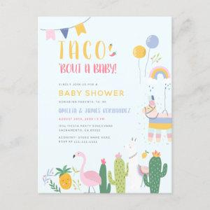 Mexican Fiesta Taco Bout A Baby Couple's Shower Invitation Postcard starting at 1.70