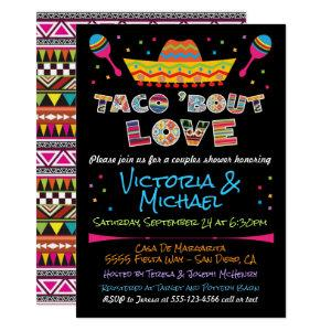 Mexican Fiesta taco bout love couples shower Invitation starting at 2.45