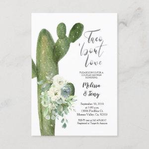 Mexican Fiesta Taco 'bout Love Couples Shower Invitation starting at 2.10