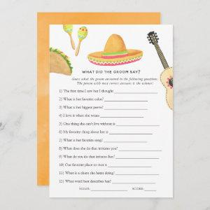 Mexican Fiesta Taco Bridal Shower Game starting at 2.51
