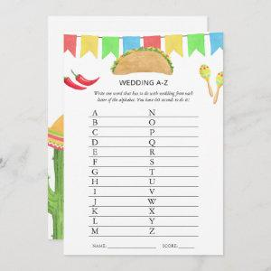 Mexican Fiesta Taco Bridal Shower Game Invitation starting at 2.51