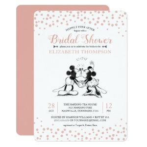 Mickey & Minnie | Pink Confetti Bridal Shower Invitation starting at 2.86