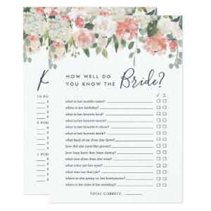 Midsummer Floral Double-Sided Bridal Shower Game Invitation starting at 2.51