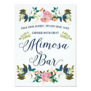 Mimosa Bar Bridal Shower Sign Invitation starting at 3.30