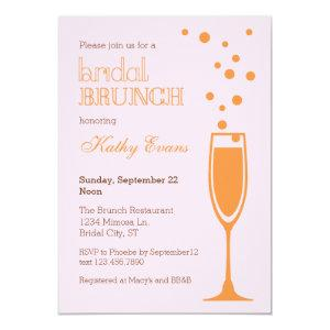 Mimosa Bridal Brunch Bridal Shower Invitation starting at 2.61