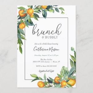 Mimosa Orange Brunch and Bubbly Bridal Shower Invitation starting at 2.45