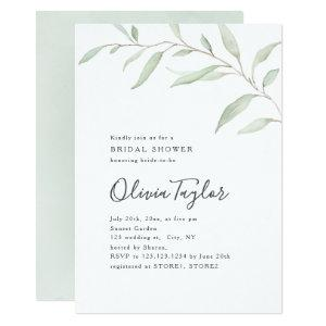 Minimal greenery calligraphy rustic bridal shower invitation starting at 2.26