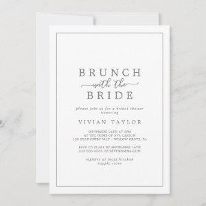 Minimal Silver Brunch with the Bride Bridal Shower Invitation starting at 2.51