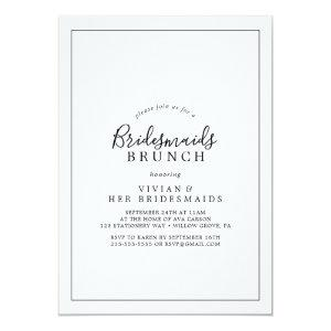 Minimalist Bridesmaids Brunch Invitation starting at 2.51
