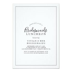 Minimalist Bridesmaids Luncheon Invitation starting at 2.51
