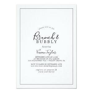 Minimalist Brunch and Bubbly Bridal Shower Invitation starting at 2.51