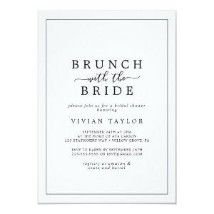 Minimalist Brunch with the Bride Bridal Shower Invitation starting at 2.26