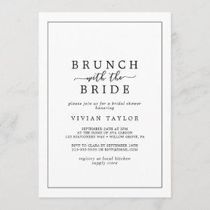 Minimalist Brunch with the Bride Bridal Shower Invitation starting at 2.51