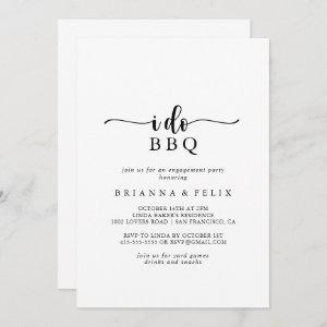 Minimalist Calligraphy I Do BBQ Engagement Party  Invitation starting at 2.51