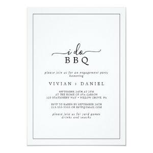Minimalist I Do BBQ Engagement Party Invitation starting at 2.51