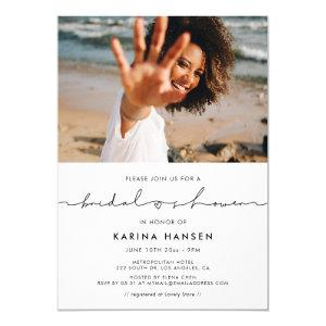 Minimalist modern handwritten bridal shower photo invitation starting at 2.55