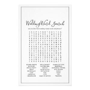 Minimalist Wedding Word Search Game Flyer starting at 0.50