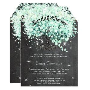 Mint Chalkboard Heart Leaf Tree Bridal Shower Invitation starting at 2.91