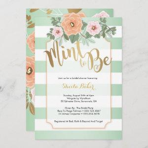 Mint & Gold Wedding Shower Invitation - Mint to Be starting at 2.66
