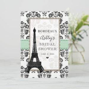 Mint Green Parisian Eiffel Tower City Table Cards starting at 2.66