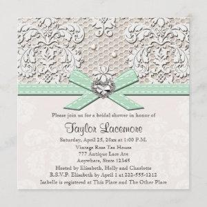 Mint Pearl Lace Diamond Bridal Shower starting at 2.51