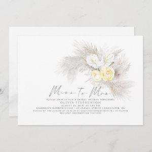 Miss to Mrs Pampas Grass Floral Bridal Shower Invitation starting at 2.51
