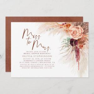 Miss to Mrs Pampas Grass Terracotta Bridal Shower starting at 2.51