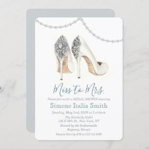 Miss to Mrs. Shoe Bridal Shower Invitation starting at 2.70