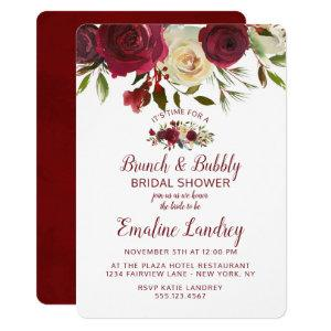 Mistletoe Manor Chic Brunch & Bubbly Bridal Shower Invitation starting at 2.75
