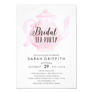 Mod Bridal Shower Tea Party Pink Invitation starting at 2.40