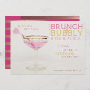 Modern 60th BRUNCH BUBBLY  PINK GOLD starting at 2.51