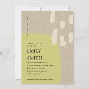 MODERN ABSTRACT LIME GREEN BRIDAL SHOWER INVITE starting at 2.35
