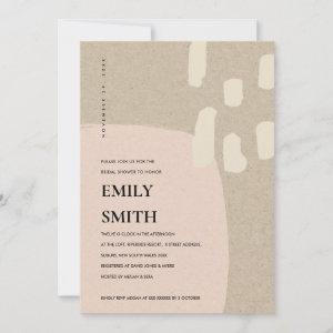 MODERN ABSTRACT PEACH PINK BRIDAL SHOWER INVITE starting at 2.35