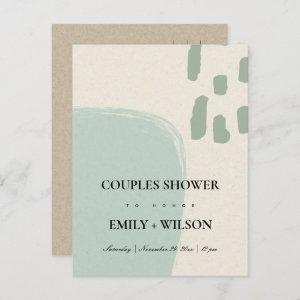 MODERN ABSTRACT SOFT AQUA BLUE COUPLES SHOWER INVITATION POSTCARD starting at 1.95
