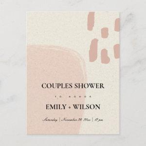 MODERN ABSTRACT SOFT PINK BLUSH COUPLES SHOWER INVITATION POSTCARD starting at 1.95