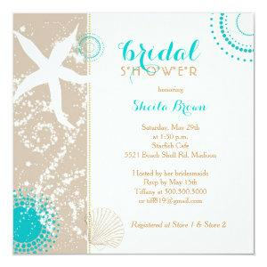 Modern Beach Bridal Shower Invitation starting at 2.51
