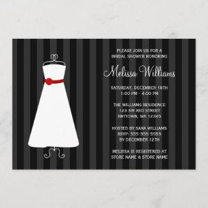Modern Black and Red Gown Bridal Shower Invitation starting at 2.51